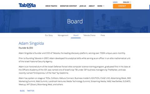 Board | Taboola | Drive Traffic and Monetize Your Site