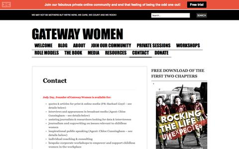 Screenshot of Contact Page gateway-women.com - Contact | Gateway Women - captured Oct. 2, 2014