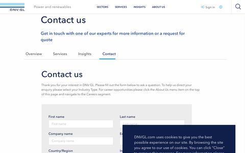 Screenshot of Developers Page dnvgl.com - Contact - Renewables developers - DNV GL - captured Dec. 7, 2019
