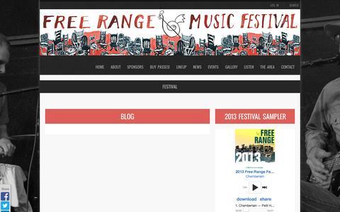 Screenshot of Blog freerangemusicfestival.com - Blog   BELFAST FREE RANGE MUSIC FESTIVAL - captured Sept. 30, 2014