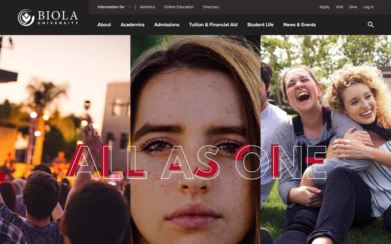 Screenshot Biola University - A Private Christian University in Southern California