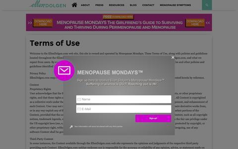 Screenshot of Terms Page ellendolgen.com - Terms of Use – Ellen Dolgen - captured Dec. 8, 2015