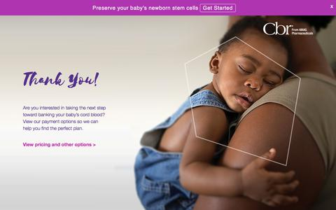 Screenshot of Landing Page cordblood.com - Cordblood - captured March 27, 2018