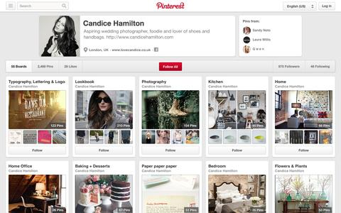 Screenshot of Pinterest Page pinterest.com - Candice Hamilton on Pinterest - captured Oct. 22, 2014