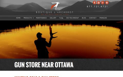Screenshot of Products Page larcherot.com - Hunting Gear and Gun Store near Ottawa | Boutique l'Archerot - captured June 23, 2016
