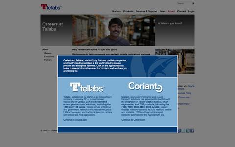 Screenshot of Jobs Page tellabs.com - Careers at Tellabs | About Tellabs | Tellabs - captured Oct. 26, 2014