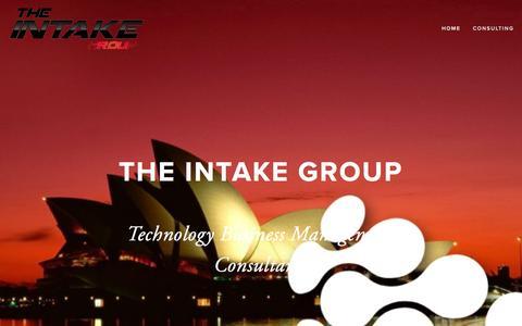 Screenshot of Home Page intake.com.au - Intake Group - captured Feb. 25, 2016