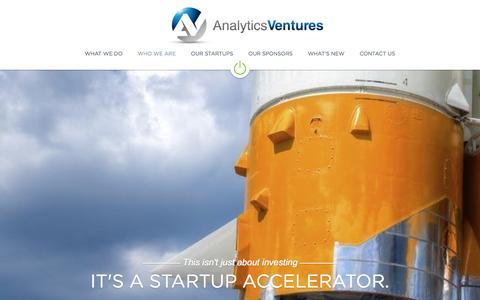 Screenshot of Home Page analytics-ventures.com - Analytics Ventures - captured Sept. 30, 2014