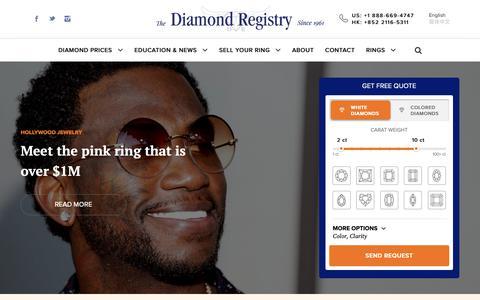 Screenshot of Press Page diamondregistry.com - Diamond & Jewelry Breaking News | Diamond Registry - captured March 9, 2019