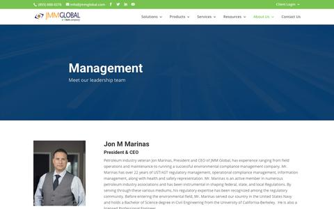 Screenshot of Team Page jmmglobal.com - Management - JMM Global - captured July 27, 2018