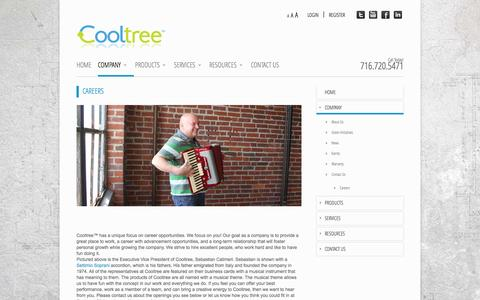 Screenshot of Jobs Page cooltree.com - Cooltree Career opportunities - captured Sept. 30, 2014