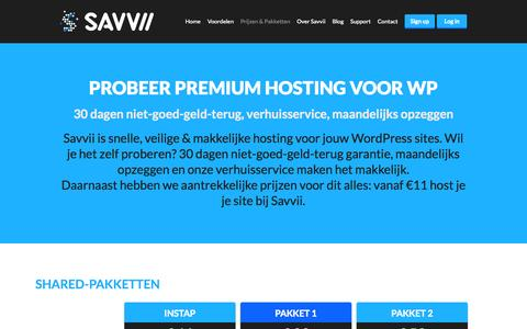 Screenshot of Signup Page savvii.nl - Managed WordPress Hosting in Nederland - Savvii - captured Sept. 18, 2014