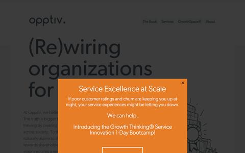 Screenshot of Services Page opptiv.com - Culture Shaping and Consulting Services  | Opptiv.  |  Growth & Innovation Consulting Firm. - captured Jan. 26, 2018