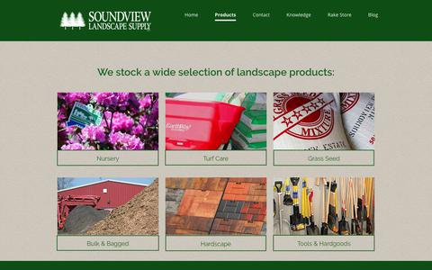 Screenshot of Products Page soundviewlandscape.com - CT Landscape Products - captured Oct. 20, 2018