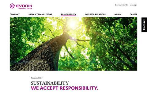 Responsibility at Evonik - Evonik Industries AG