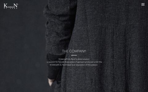 Screenshot of About Page kristensen-du-nord.com - THE COMPANY – KristenseN Du Nord - captured Nov. 11, 2018