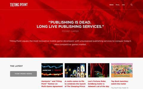 Screenshot of Home Page tiltingpoint.com - Tilting Point – Independent Games Partner - captured Sept. 23, 2014
