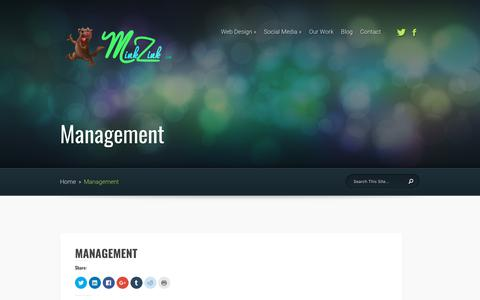 Screenshot of Team Page minkzink.com - Management | Minkzink - captured Nov. 5, 2017
