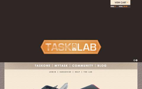 Screenshot of Home Page thetasklab.com - Tasklab   - captured Sept. 25, 2014