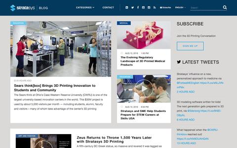 Stratasys Blog - The 3D Printing and Additive Manufacturing Solutions Company