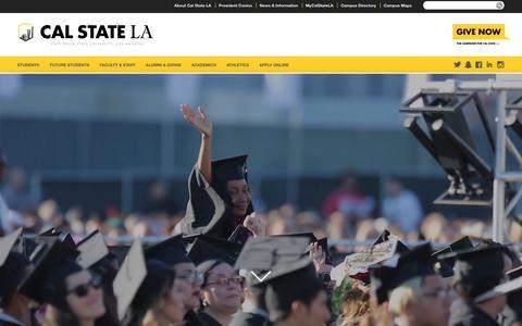 Screenshot of Home Page calstatela.edu - California State University, Los Angeles | - captured May 18, 2018