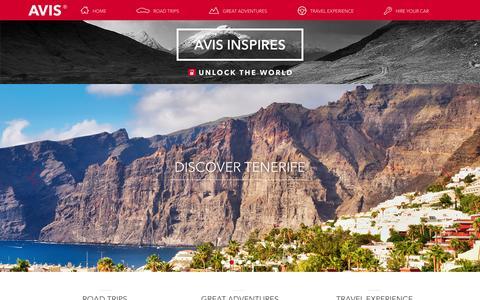 Screenshot of Blog avis.co.uk - Avis Inspires | Car Hire Magazine - captured Sept. 17, 2015