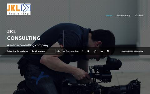 Screenshot of Home Page jklconsulting.org - JKL Consulting - captured Nov. 17, 2016