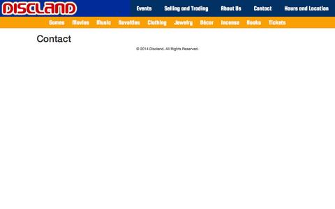 Screenshot of Contact Page disclandonline.com - Contact  |  Discland - captured Oct. 5, 2014
