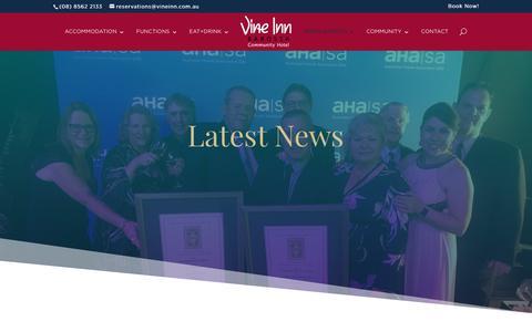 Screenshot of Press Page vineinn.com.au - News (blog) - Vine Inn Barossa Hotel - captured Nov. 18, 2018