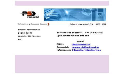 Screenshot of Home Page pullservi.es - ..:: Pullservi - captured Oct. 1, 2014