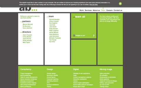 Screenshot of Team Page ab-uk.com - Meet the team   AB   Full service marketing & creative communications agency   Exeter, Devon - captured Oct. 4, 2014