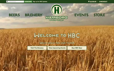 Screenshot of Home Page hamburgbrewing.com - Hamburg Brewing Company - captured Sept. 6, 2015