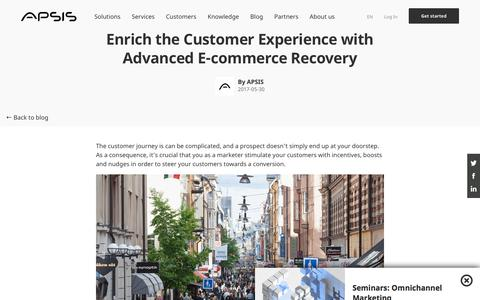 Screenshot of Support Page apsis.com - Advanced E-commerce Recovery | APSIS - captured Nov. 6, 2019