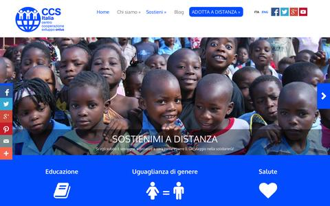 Screenshot of Home Page ccsitalia.org - CCS Italia - Sostegno a Distanza - captured Oct. 1, 2014