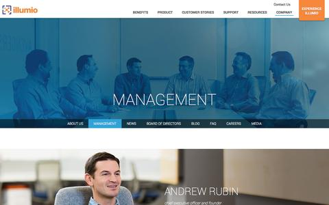 Screenshot of Team Page illumio.com - Illumio Management Team - captured Oct. 28, 2014