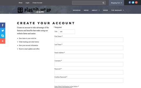 Screenshot of Signup Page plastikwrap.com - Join - Create Account - captured May 19, 2017