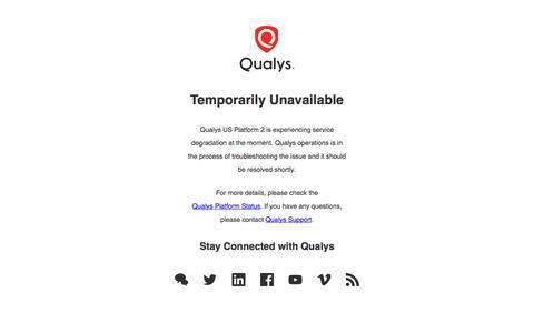 Temporarily Unavailable | Qualys, Inc.