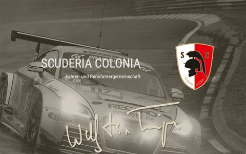 Screenshot of Home Page scuderia-colonia.de - Scuderia Colonia e.V. im ADAC - captured June 6, 2016