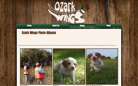 Screenshot of Press Page ozarkwings.com - Ozark Wings Hunting Preserve | Missouri | Media - captured June 18, 2017