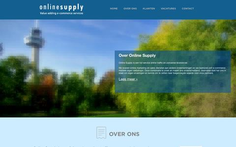Screenshot of Home Page Contact Page onlinesupply.nl - Online Supply | Uw online succes, onze zorg. - captured Oct. 6, 2014