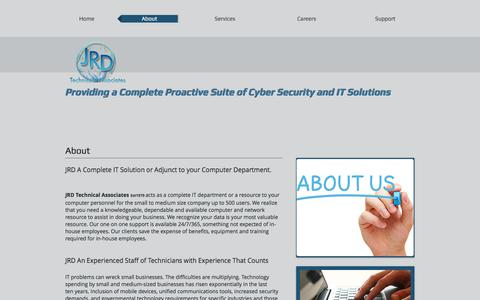 Screenshot of About Page jrdtech.com - Proactive Suite of Computer Security, IT, Network & Cabling Solutions | About - captured Oct. 6, 2017