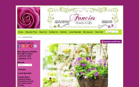 Screenshot of Blog fanciesflowers.com - Flower Shop & Florist in Rapid City SD | Fancies Flowers - captured Oct. 31, 2018