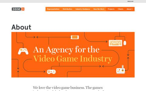 Screenshot of About Page ddmagency.com - About - Digital Development Management - captured Oct. 12, 2017
