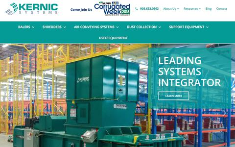 Screenshot of Home Page kernicsystems.com - Kernic Systems | Global Installation of Complete Systems - captured Sept. 20, 2018