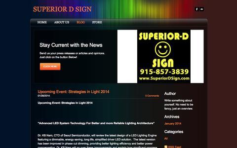 Screenshot of Blog superiordsign.com - SUPERIOR D SIGN - Blog - captured Oct. 7, 2014