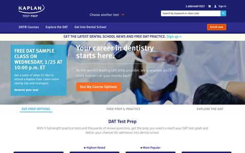 DAT Test Prep | DAT Exam Study Materials | Kaplan Test Prep