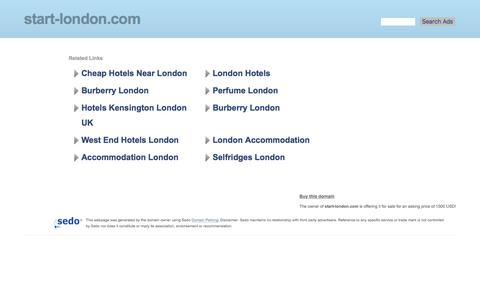 Screenshot of Home Page start-london.com - start-london.com - This website is for sale! - start Start See by Chloe Start London Resources and Information. - captured May 10, 2017