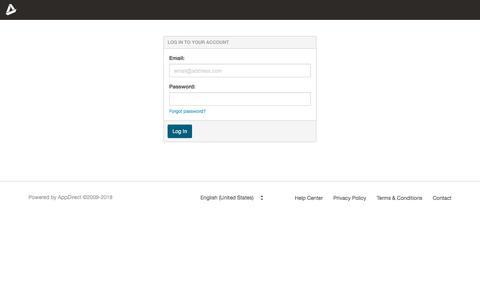 Screenshot of Login Page appdirect.com - Log In | AppDirect - captured July 6, 2019