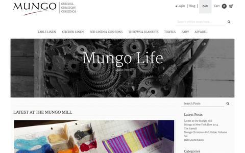 Screenshot of Blog mungo.co.za - Mungo - captured Oct. 7, 2014