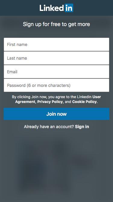 Screenshot of Landing Page  linkedin.com - LinkedIn: Log In or Sign Up